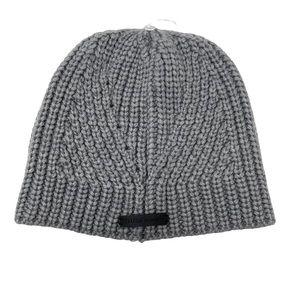 REBECCA MINKOFF Traveling Rib Knit Beanie Hat Grey